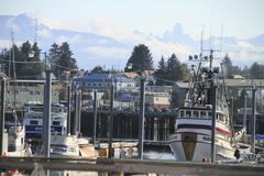 Petersburg ,Alaska, harbor - stock photo