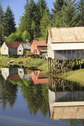 Petersburg ,boathouses - stock photo