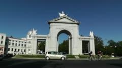 Madrid Puerta De San Vicente 02 Stock Footage