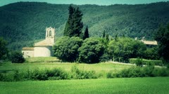 Beautiful European Summer Countryside 03 stylized Stock Footage