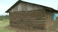 Mud house 1 Stock Footage