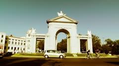 Madrid Puerta De San Vicente 05 stylized Stock Footage