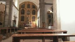 Inside church 3 Stock Footage