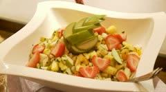 Fruit Salad Dessert Stock Footage