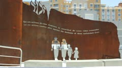Israel - Jews Holocaust Memorial Puerto Rico 3 Stock Footage