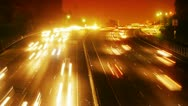 Stock Video Footage of Night traffic timelapse