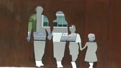 Israel - Jews Holocaust Memorial Puerto Rico 2 Stock Footage