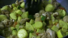 Stir fry cooking Stock Footage