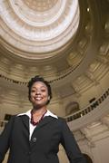 African businesswoman in capitol building Stock Photos