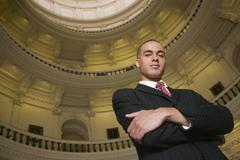 African businessman in capitol building Stock Photos