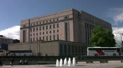 Helsinki parliament 001 Stock Footage