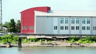New Orleans Waterfront Warehouses 2538 Stock Footage