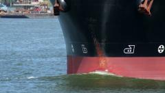 Bulbous Bow Cargo Ship 2541 Stock Footage