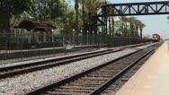 Stock Video Footage of BNSF Locomotives