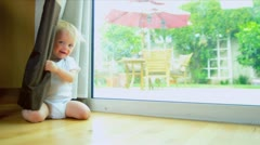 Stock Video Footage of Blue Eyed Baby Laughing Playing