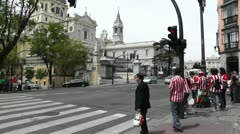 Madrid Santa Maria Almudena Calle De Bailen and Calle Mayor 01 Stock Footage