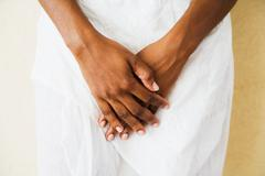 close up of african woman's hands close up of african womanõs hands - stock photo