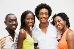 African couples smiling Stock Photos