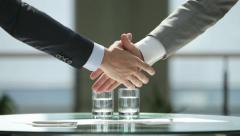 Mutual agreement - stock footage