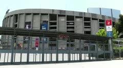 Stadium Camp Nou 01 Stock Footage