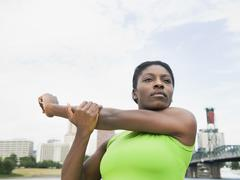 African woman stretching Stock Photos
