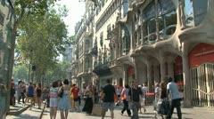 Casa Batlló Stock Footage