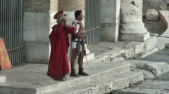 Roman Soldier Stock Footage