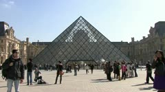 The Louvre Museum - Paris Stock Footage