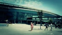 Stadium Camp Nou 09 stylized Stock Footage