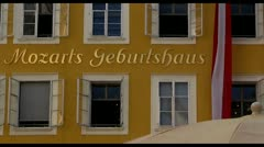 Salzburg Mozarts birthplace Stock Footage