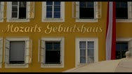 Stock Video Footage of Salzburg Mozarts birthplace