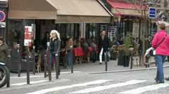 Paris cafe - Montmartre Stock Footage