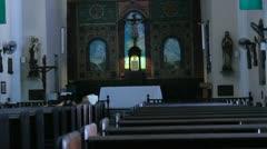 Old catholic church 2 Stock Footage