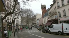 Paris street - Montmartre - stock footage