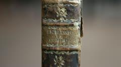 """The book """"de officiis"""" of the philosopher Cicero Stock Footage"""