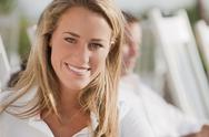 Stock Photo of smiling caucasian woman