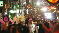 Night Walking Street, Patong, Thailand Stock Footage
