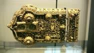 Ornate gold lock Stock Footage