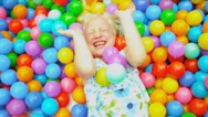 Childhood Fun in Garden Pool Stock Footage