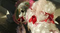 Venice: carnival mask - stock footage