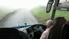 Motoring in Fog - stock footage