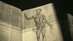 Old medical anatomy book Stock Footage
