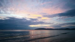 Evening sky over the tropical ocean Stock Footage