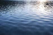 Vibrant water texture with sunlight reflection Stock Photos