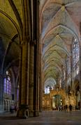 Stock Photo of Gothic cathedral indoors panorama