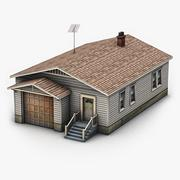Clapboard Siding House 3D Model