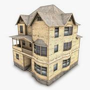 3d model of 3 Story Old Victorian House