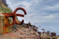 Stock Photo of Peine del Viento, Chillida´s scupture in San Sebastian, Spain.