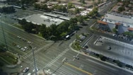 Intersection birds-eye day to night Stock Footage