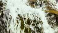 Clean water is flowing on a hillside Stock Footage